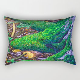 Tree Roots with Moss Rectangular Pillow