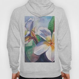 Tropical Plumeria Flowers Hoody