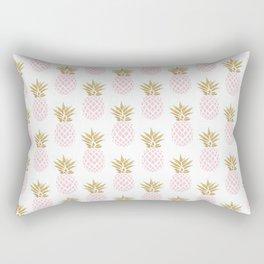 Elegant faux gold pineapple pattern Rectangular Pillow