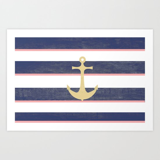 Anchor Away Art Print