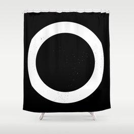 (CIRCLE) (BLACK & WHITE) Shower Curtain