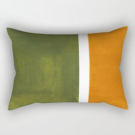 Olive Green Yellow Ochre Minimalist Abstract Colorful Midcentury Pop Art Rothko Color Field Rectangular Pillow