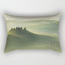 Foggy morning in Toscany Rectangular Pillow