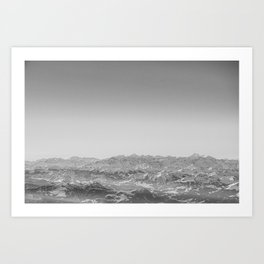 Alps from above Art Print