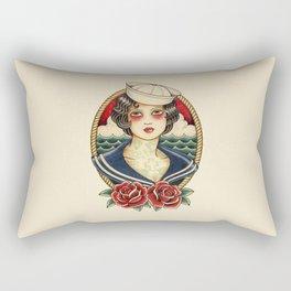 Sailor Girl Tattoo Rectangular Pillow