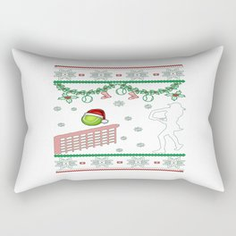 Tennis Christmas Rectangular Pillow