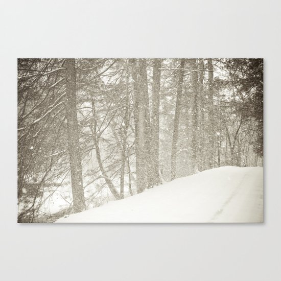 Stopping by a Snowy Woods Canvas Print