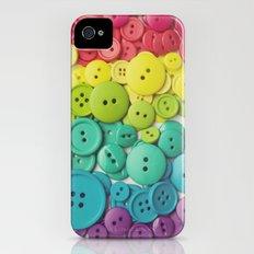 Cute as a button iPhone (4, 4s) Slim Case