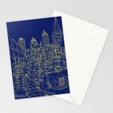 London! Navy Stationery Cards