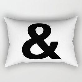 Ampersand Black and White Helvetica Typography Design Poster Home Decor Wall Art Scandinavian Decor Rectangular Pillow