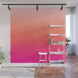 Gradient Ombre Living Coral Millennial Plastic Pink Pattern Peachy Orange Soft Trendy Cute Texture Wall Mural