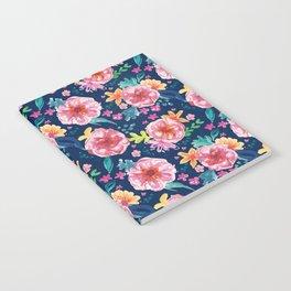 Blue Watercolor Delight Notebook