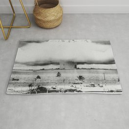 Atomic Bomb Mushroom Cloud Operation Crossroads Baker Test Rug
