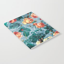 Floral and Marble Texture II Notebook