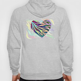 Rainbow Zebra Print Heart! Hoody