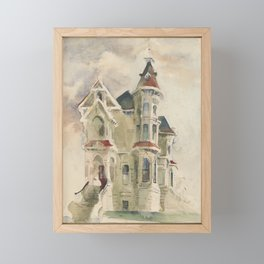 San Diego House in the 1940's, beautiful  Framed Mini Art Print