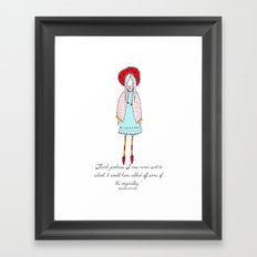 Beatrix Potter Dedication Illustration Framed Art Print