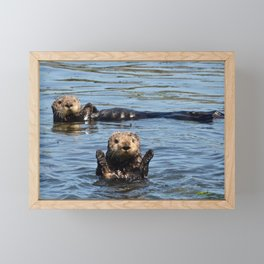 sea otter hello Framed Mini Art Print