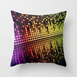 sound mixer equalizer Throw Pillow