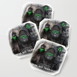 Three Wise Monkeys Coaster