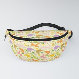 Animals Exotic Pastel Colors Shapes Pattern Fanny Pack