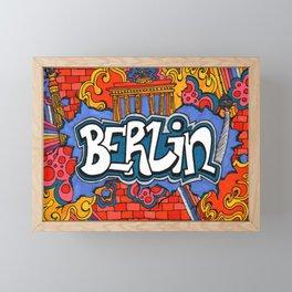 Berlin Graffiti Framed Mini Art Print