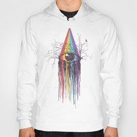 purple Hoodies featuring Look into the Future by Norman Duenas