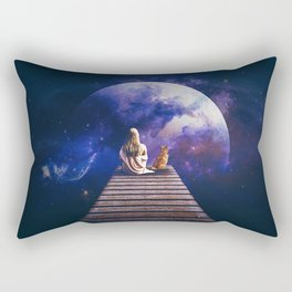 Company on the pier Rectangular Pillow