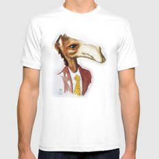 Mr. Camel White MEDIUM Mens Fitted Tee