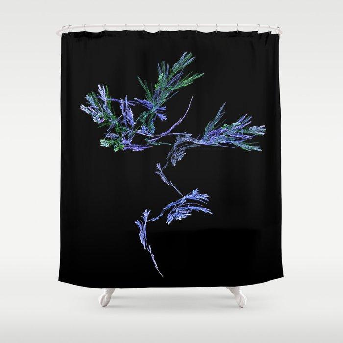 Winter Tree Fractal Shower Curtain
