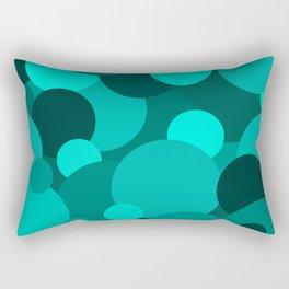 Teal Circle Pattern Rectangular Pillow