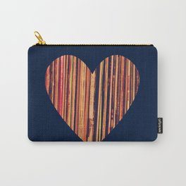 Valentine's Day Vinyl Records Heart Hipster Carry-All Pouch