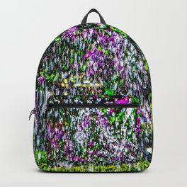 Abstract Art Of Lilacs And Water Backpack