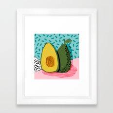 Choice - wacka memphis throwback retro neon fruit avocado vegetable vegan vegetarian art decor Framed Art Print