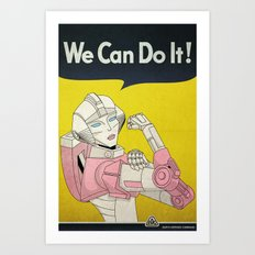 we can do it. Art Print