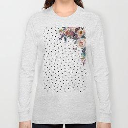 Boho Flowers and Polka Dots Long Sleeve T-shirt