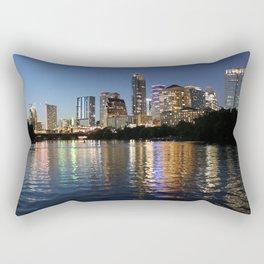Austin, Texas skyline - city lights Rectangular Pillow