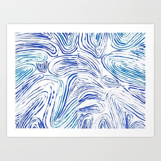 Lines of Waves Art Print