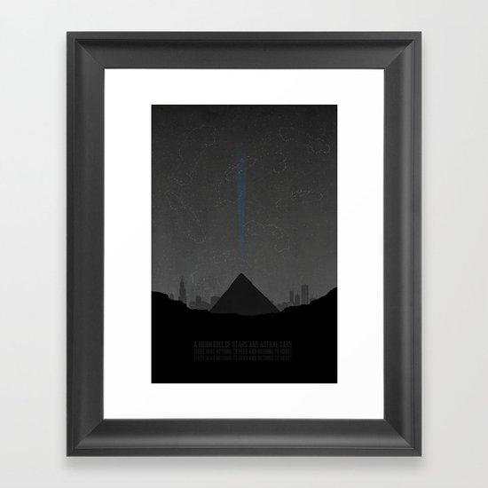 Pyramid Song Framed Art Print