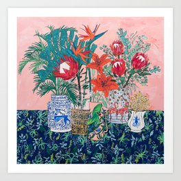 The Domesticated Jungle - Floral Still Life Art Print