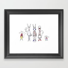 School Yard Framed Art Print
