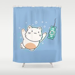 Nevermind Cat Shower Curtain
