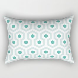 Shining in Aqua Rectangular Pillow
