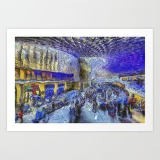 Kings Cross Station Van Gogh Art Print