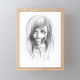 Keep smiling for me Framed Mini Art Print