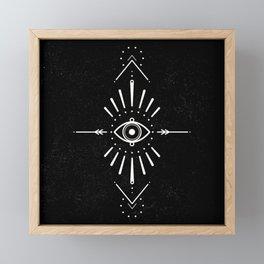 Evil Eye Monochrome Framed Mini Art Print
