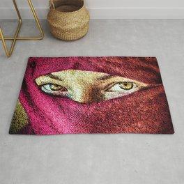 Little Wanderer in hijab painting portrait - Jeanpaul Ferro Rug