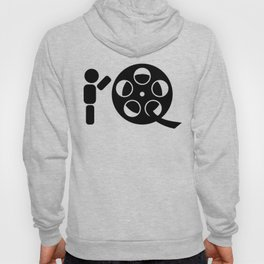 Abstract character rolling movie reel Hoody