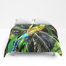 Blue Dragonfly Wings Comforters