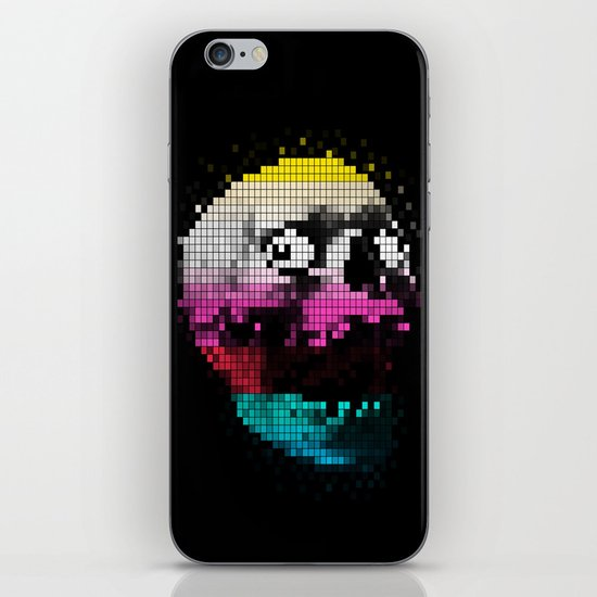 PIXEL SKULLY iPhone & iPod Skin